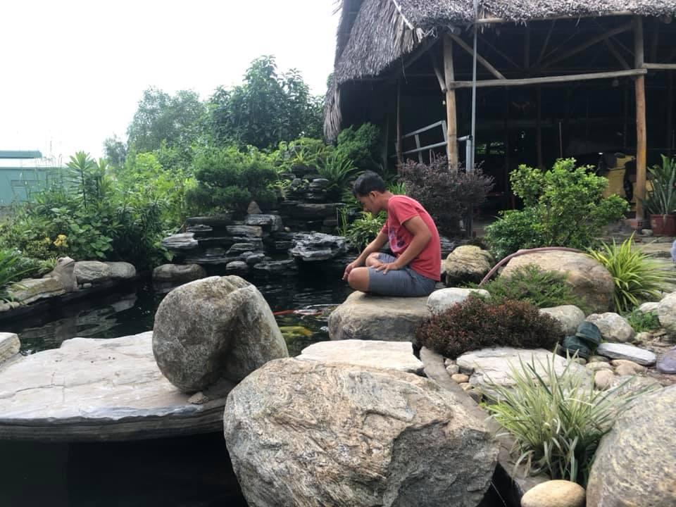 Thi công hồ KOI SÂN VƯỜN TẠI ECORESOT Cần Thơ