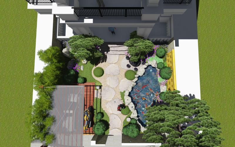 Thiết kế sân vườn Nhật Bản đẹp phong cách thiền định