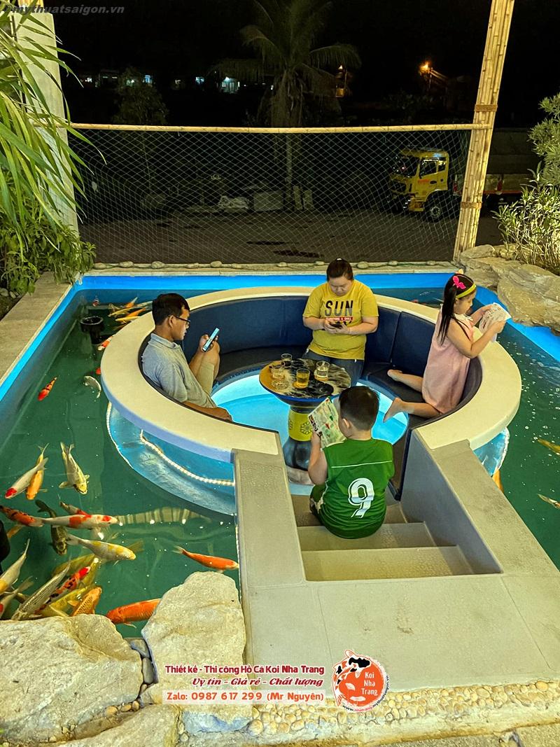 Chi phí dự trù xây hồ cá Koi khu đô thị Phước Long A ở Nha Trang