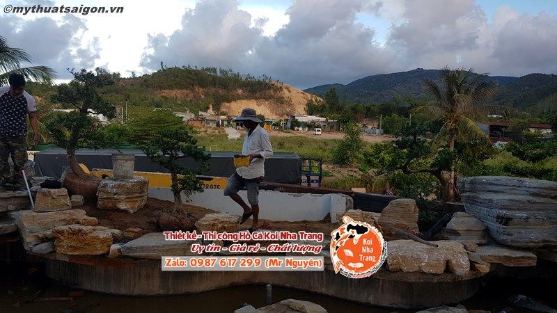 Những chi phí cơ bản cần phải tính khi thi công bể cá koi ở Nha Trang