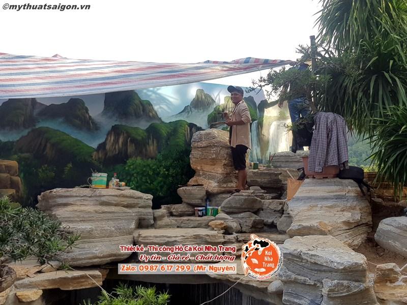 Những điều cần thiết trong thi công hồ cá Koi giá rẻ khu đô thị ven sông Tắc ở Nha Trang