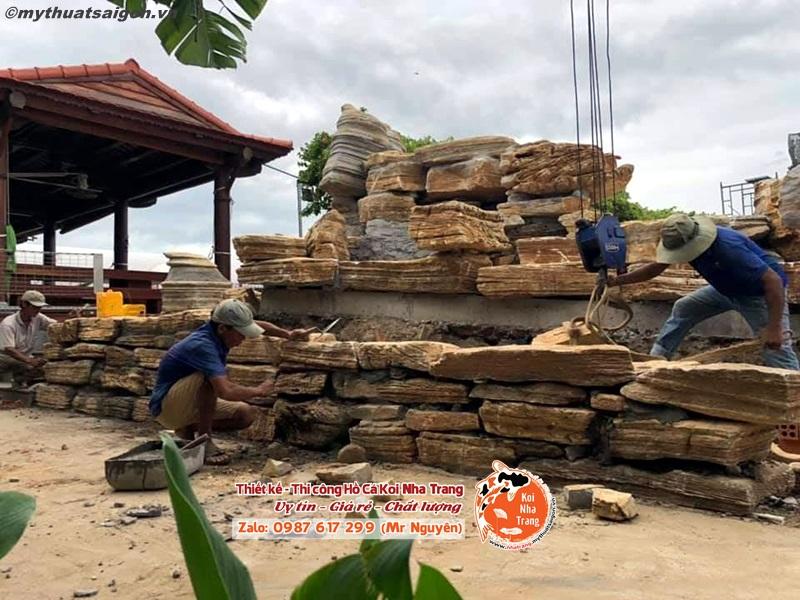 Báo giá thi công hồ cá Koi khu đô thị Mỹ Gia ở Nha Trang