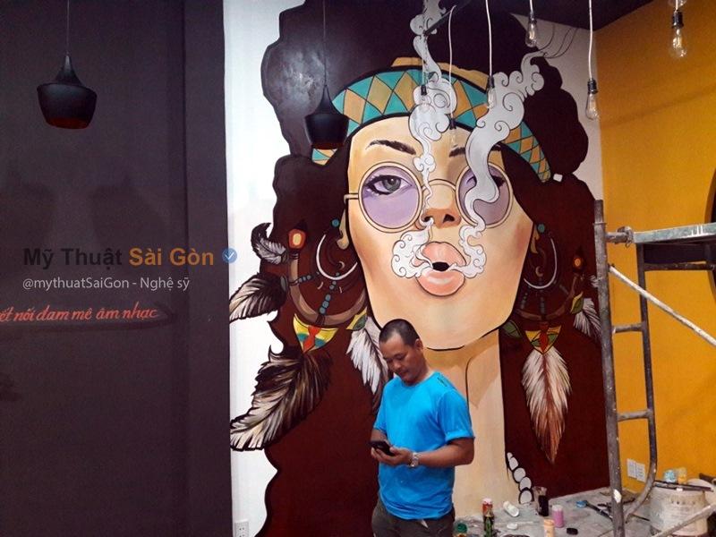 vẽ tranh tường 3d cafe tại An Giang