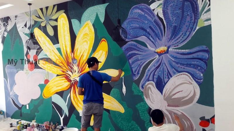 Dịch vụ trang trí vẽ tranh tường Quán cafe