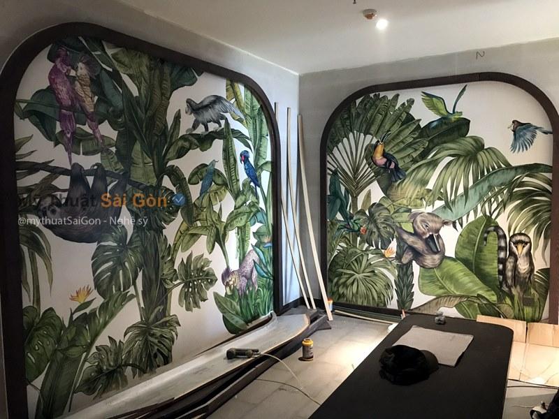 vẽ tranh tường 3d cafe tại rạch giá - kiên giang