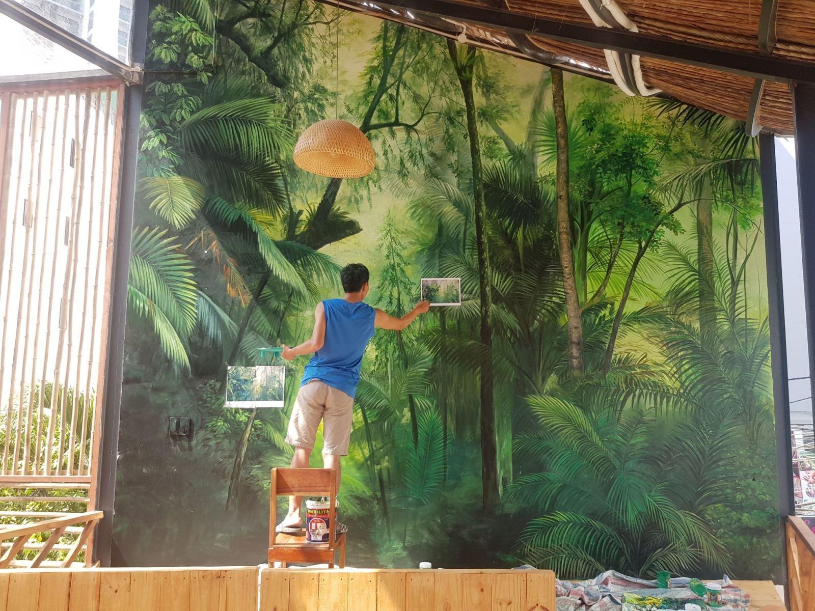 vẽ tranh tường cafe tại Tp Nha Trang