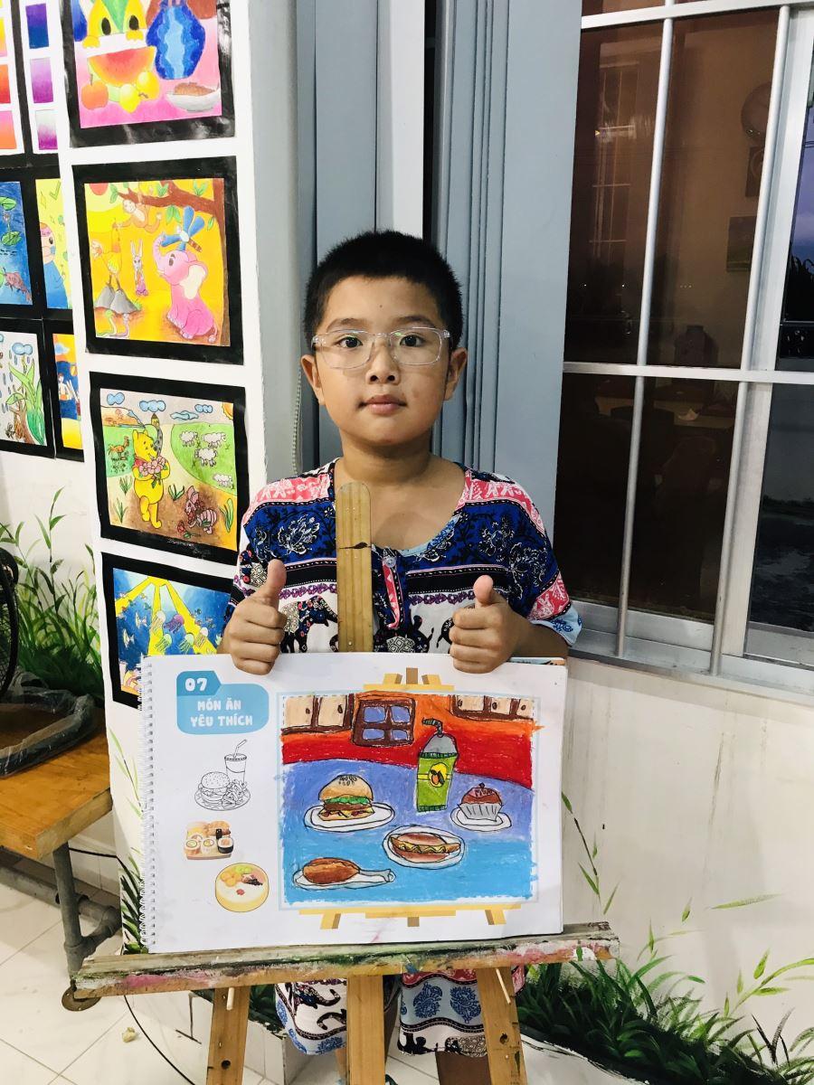 lớp vẽ cho bé từ 7 đến 11 tuổi - trung tâm dạy vẽ Mỹ Thuật Sài Gòn