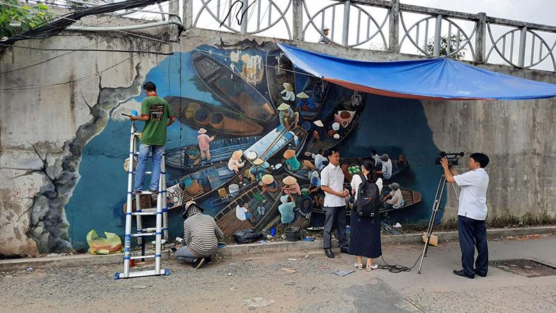 Viết chữ vẽ tranh tường 3d Tại Ninh Kiều Tp Cần Thơ