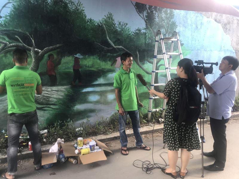 Vẽ tranh tường 3d Khu Phố tại cầu cái răng bé Miễn Phí