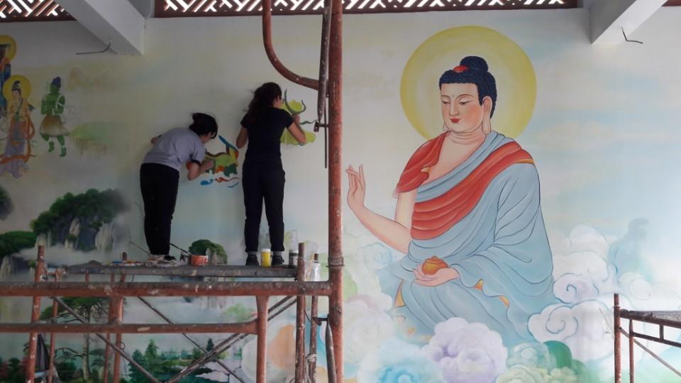 vẽ tranh tường cafe tại Tp Cần Thơ